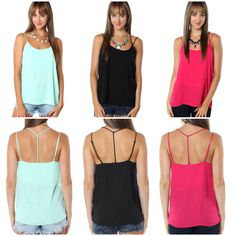 "Classic and always in trend. These ""strappy tanks"" (24.99) are a MUST-HAVE for your closet available at #sophieandtrey and online at www.sophieandtrey.com! #freeshipping #newarrivals #musthave #summer"