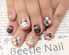 Nail Art - Beetle Nail : 2016年01月  #Snoopy #valentine #chocolate #Beetlenail #Beetle近江八幡 #ビートルネイル #ビートル近江八幡