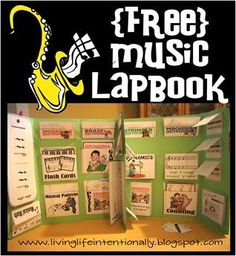 Wow! 60 page FREE music lap book!! Covers many different aspects of music and has tons of cute graphics. Why is this free??
