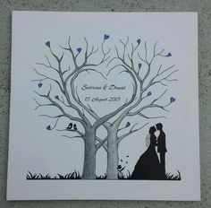 See related links to what you are looking for. Wedding Tree Guest Book, Guest Book Tree, Tree Wedding, Wedding Cards, Diy Wedding, Wedding Gifts, Family Tree Art, Tree Stencil, Tree Templates