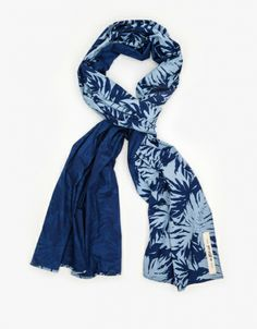 Palm Leaves Discharge Scarf