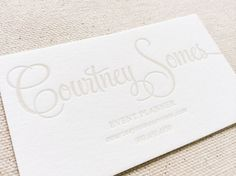 Event planner letterpress business cards letterpress business letterpress business cards calling card custom by dinglewooddesign reheart Choice Image