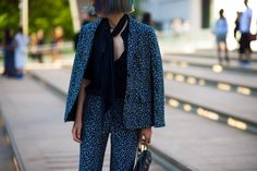 Up to Your Neck - New York Fashion Week Spring 2016 street style-Wmag