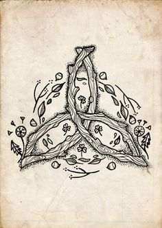 Imagem de earth, celtic, and flowers Druid Tattoo, Pagan Tattoo, Witch Tattoo, Wiccan Tattoos, Celtic Symbols, Celtic Art, Celtic Dragon, Witch Art, Celtic Designs