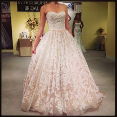 Love this lace ballgown by Impression Bridal