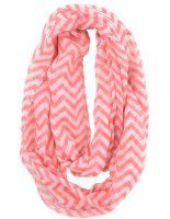 Soft Chevron Sheer Infinity Scarf in Contrasting Colors (Earth/Black):Amazon:Clothing