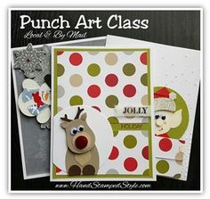 Hand Stamped Style shows you how to create lots of fun punch art pieces in this class series, attend the local San Antonio TX class or get the class BY MAIL and make them at home.