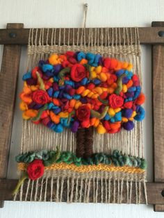 Funny Toys, Woven Wall Hanging, Tapestry Weaving, Handicraft, Loom, Crochet Necklace, Diy Crafts, Handmade, Rugs