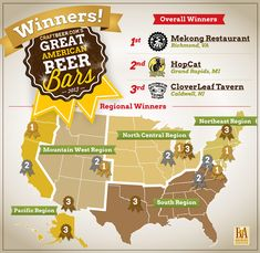 2013 Great American Beer Bar Winners - Apparently my home town Richmond, VA is number one!? I really wouldn't guess this cause I don't drank, but anyone that does come check out our pubs.