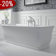 Mortlake Badekar, Mat Hvid - Badekaret måler 1.680 x 750 mm   Bredt udvalg af badekar kan købes billigt online hos VillaHus.com