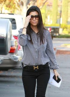 Kourtney Kardashian - Women's fashion - style - cute outfit - fashion inspiration - casual style