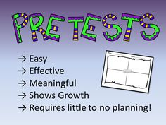 Pre-Assessments Made Meaningful! One worksheet...every assessment. FREE!