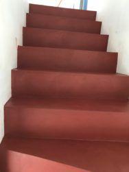 Escalier Avec Marches En Hichory Vernis Et Contremarches En Erable