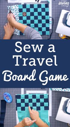 "Ashley Hough shows you how to make your own board game board that can be used for checkers, chess or any other game that requires a similar board. For this fun project, you will only need small amounts of cotton fabric, a zipper of any length 11"" or less, and then either the pieces you need for your game or lots of large buttons. Ashley shows how to begin making the game board by starting with strips of contrasting fabric. While this project can be made from any color of fabric you want... Checkers Board Game, Board Games, Quilting Projects, Sewing Projects, Fabric Board, Sewing Circles, Large Buttons, Sewing Accessories, Make A Gift"