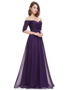 Off-the-Shoulder Evening Gown with Sweetheart Neckline - Ever-Pretty US