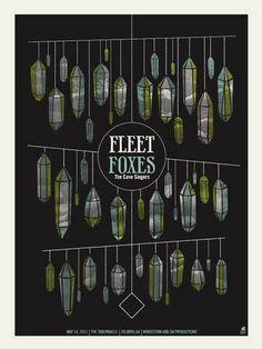 Fleet Foxes concert poster by Methane Studios