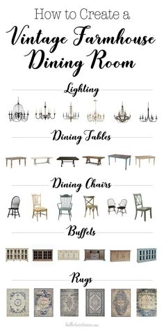 How to Create a Vintage Farmhouse Dining Room in any home #farmhouse #homedecor #fixerupper #farmhousestyle