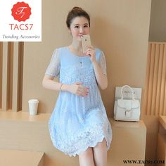 dbe2378e57e Summer Maternity Short Lace Patchwork Pregnancy Wear