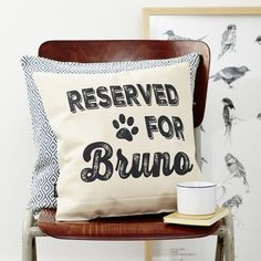 Personalised Reserved Dog Cushion
