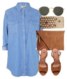 """""""Untitled #5290"""" by laurenmboot ❤ liked on Polyvore featuring Topshop, Pull&Bear and Ray-Ban"""