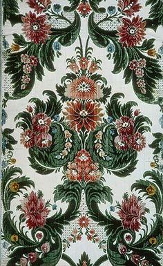 Velvet panel, ca. 1700 Italian (probably Genoa) Silk velvet, cut and uncut on satin ground