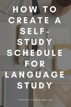 If you're studying a language on your own, it can be frustrating to make a study schedule that works for you and to stick to it! So I've made it easier for you! Here's how to make a self-study schedule to suit your language learning needs. Learning Languages Tips, Learning Apps, Learn Languages, Language Study, Language Lessons, Foreign Language, German Language, Spanish Language, French Language