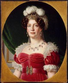 A portrait of Marie Thérèse Charlotte de France, the duchesse d'Angoulême (daughter of Louis XVI and Marie Antoinette) by Alexandre-François Caminade, 1827