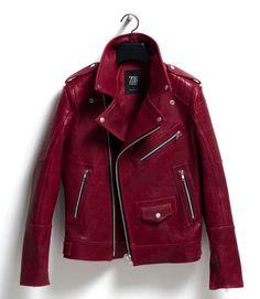 Garnet Colored Leather Jacket
