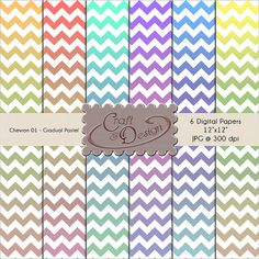 Printable Scrapbook Paper Pack  6 digital  papers  by CraftNDesign, $3.00