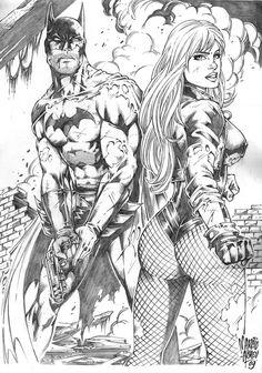 (DC Comics) Black Canary/ Batman (by JointForce) Comic Book Characters, Comic Books Art, Comic Art, Batman Artwork, Batman Wallpaper, Arte Dc Comics, Univers Dc, Black Canary, Comic Drawing