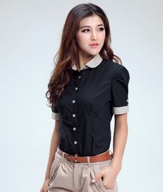 Aliexpress.com  Comprar Ropa de mujer profesional Tops blusas de la gasa de  la camiseta del Collar del soporte Shirts 2015 nuevas mujeres ropa de  blouse bow ... ce721c05e8148