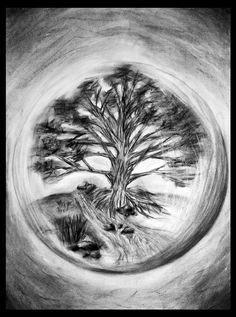 """Sphere, inspired by the movie """"The Fountain""""- Pencil"""