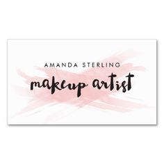 Shop Pink Blush Makeup Artist Business Card created by charmingink. Nail Logo, Elegant Makeup, Makeup Artist Business Cards, Watercolor Logo, Elegant Business Cards, Blush Makeup, Business Inspiration, Name Cards, Color Me Beautiful