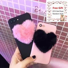 Cases, Covers & Skins Fashion Soft Furry Love Heart Pattern Shockproof Case For Iphone 7 6 Plus X Fluffy Phone Cases, Bling Phone Cases, 3d Iphone Cases, Girl Phone Cases, Diy Phone Case, Cute Phone Cases, Phone Cover, Friends Phone Case, Iphone 7 Plus