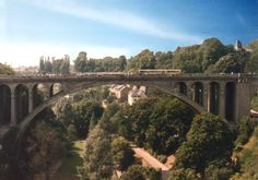 Luxembourg's Adolphe Bridge, named for the Grand Duke Adolphe. It is the symbol of Luxembourg's independence.
