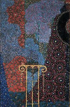 Art Nouveau : Painting Tripod has incense Vittorio Zecchin ( 1878 1947 ) derived from his cycle Thousand and One Nights CaPesaro 1914 Venice , Galleria Internazionale dArte