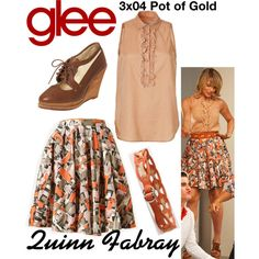 Quinn Fabray (Glee) : 3x04 by aure26 on Polyvore featuring mode and glee