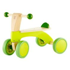 Hape Scoot Around Kid's Wooden Ride On Balance Bike - Most Wanted Christmas Toys Wooden Ride On Toys, Wooden Baby Toys, Wood Toys, Wooden Scooter, Hape Toys, Wood Bike, Push Toys, Balance Bike, Buggy