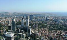 South side of İstanbul panorama from Sapphire Skyscraper Levent, Skyscrapers, Bosphorus, Marmara, Princess islands #buildings #river #skyscraper