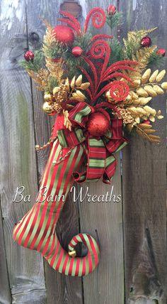 Christmas Swag Christmas Door Hanging Christmas by BaBamWreaths