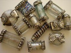 Silver and Glass Beads