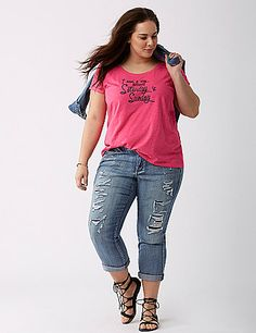 Don't we all. And this tee throws just a little attitude. lanebryant.com
