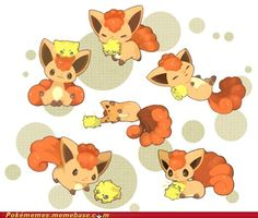 Vulpix and Joltik!❤️