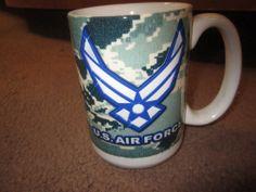 U.S. Air Force Heavy Ceramic Mug. U.S. Made.