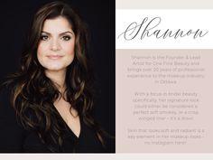 Shannon R. - Founder & Lead Artist of One Fine Beauty Bridal Beauty, Bridal Makeup, Pretty Woman Hotel, Olympic Flag, Mario Dedivanovic, Lisa Eldridge, Olympic Committee, Beauty First