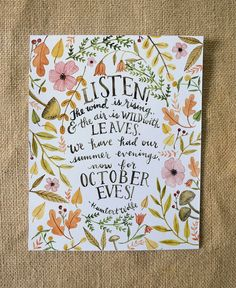 Fall Art Print/ Fall Quote/ Autumn Quote by TheHoneyBeePaperie
