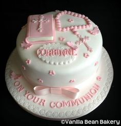 Communion and Confirmation Cakes here at Vanilla Bean Bakery First Holy Communion Cake, Fondant Cookies, Cupcake Cakes, Comunion Cakes, Religious Cakes, Confirmation Cakes, Ballerina Cakes, Novelty Cakes, Fondant Cakes