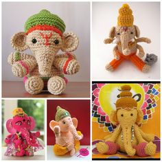 Go Around the World Seven Times With Ganesha – FREE crochet patterns!