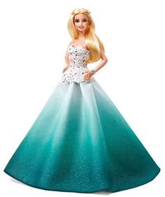 Barbie 2016 Holiday Doll - A beloved tradition for more than 25 years, the 2016 Holiday Barbie doll rings in the wonder of the holidays and all the joyous festivities. Dressed in a beautiful aqua ombre sparkle skirt with detailed bodice and bracelet, Holiday Barbie doll has the perfect glamorous look that will shine bright...