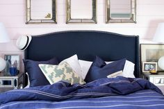 A beautiful bedscape of pattern, texture, and color.